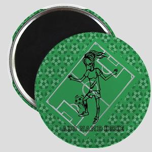 Personalized Soccer girl MOM design Magnet