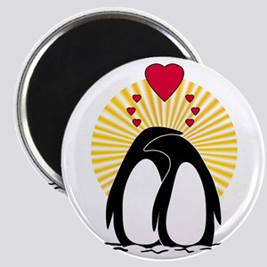 Loving Penguins (sunburst) Magnet