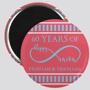 Personalized 60th Anniversary Infinity Magnet