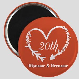 Custom Monogram Names Family Anniversary Magnet