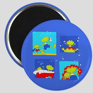 Bathtub Frogs on Magnet