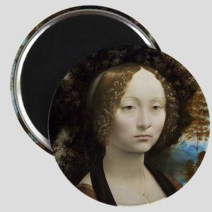 Leonardo da Vinci - Ginevra de Benci Magnet