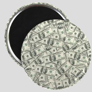 100 Dollar Bill Money Pattern Magnet