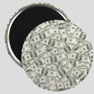 100 Dollar Bill Pattern Magnet