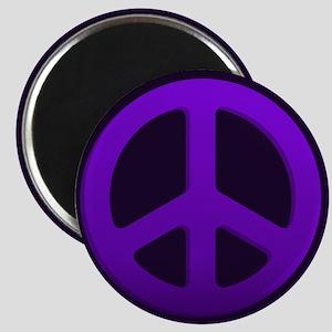 Purple Fade Peace Sign Magnets