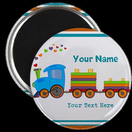 Custom Kids Train Magnet