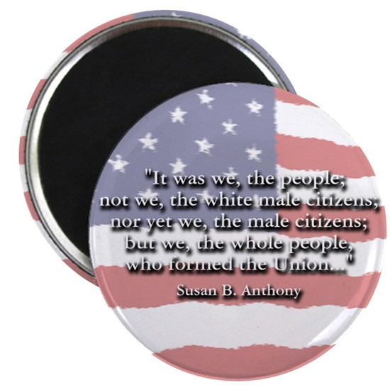 Susan B All the people button