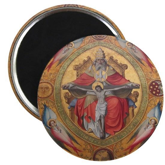 Altar Piece Round Magnet