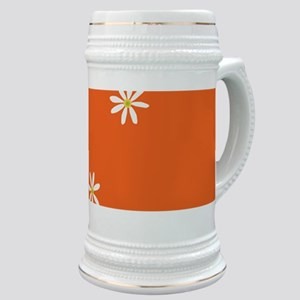 Orange Floral Path Loretta's Fave Stein