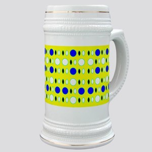Blue Yellow Glitterbug Stein