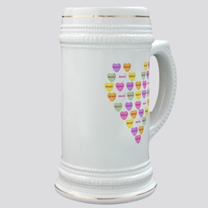 Candy Hearts Stein