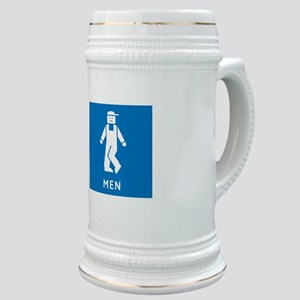 Public Toilet Men, California, USA Stein
