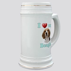 I Love My Beagle Stein