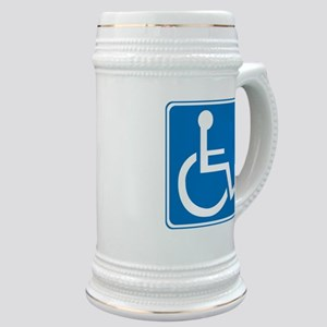Handicapped Sign Stein