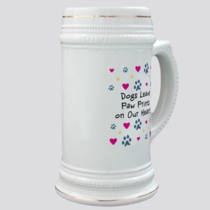 Dogs Leave Paw Prints Stein