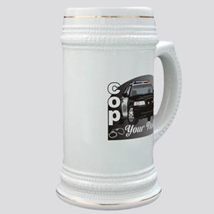 Custom Personalized Cop Stein