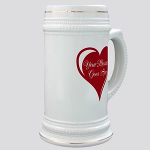 Your Custom Message in a Heart Stein