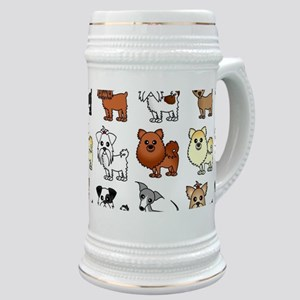Cute Toy Dog Breed Pattern Stein