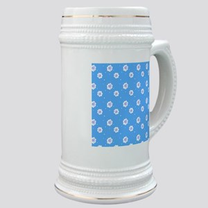 Blue Hues Abstract Designer Stein