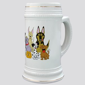 Cartoon Dog Pack Stein