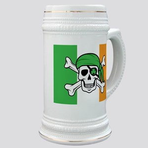 Irish Jolly Roger - Pirate Flag Stein