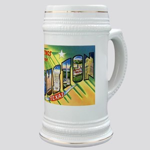 Houston Texas Greetings Stein
