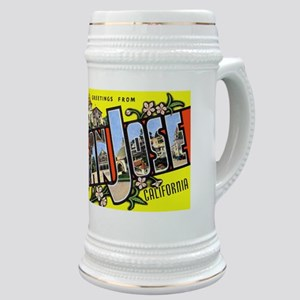 San Jose California Greetings Stein