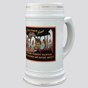 Wisconsin Greetings Stein