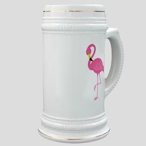 Pink Flamingo Stein