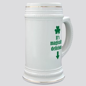 It's magically delicious shamrock Stein