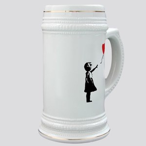 Banksy - Little Girl with Ballon Stein