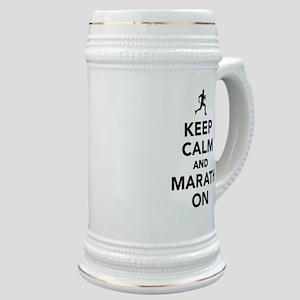 Keep calm and Marathon Stein