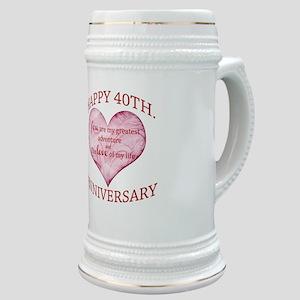 40th. Anniversary Stein