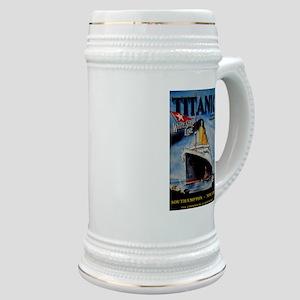 Vintage Titanic Travel Stein
