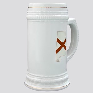 Alabama Flag Stein
