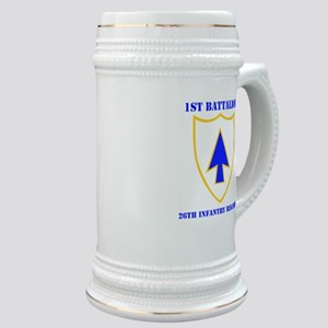 DUI - 1st Bn - 26th Infantry Regt with Text Stein