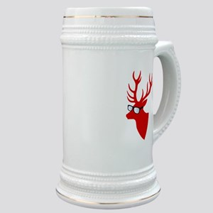 Christmas deer with nerd glasses Stein