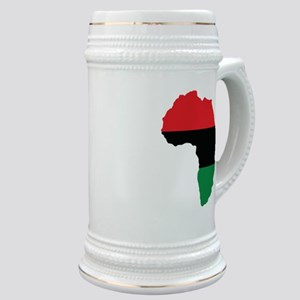 Red, Black and Green Africa Flag Stein