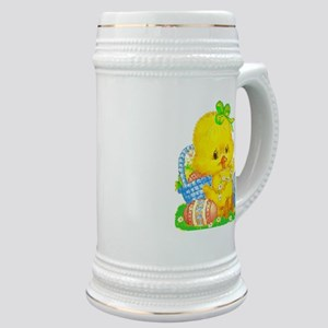 Vintage Cute Easter Duckling And Easter Egg Stein