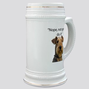 Airedale Terrier Stubborn Sayings Stein