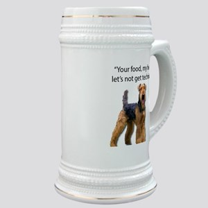 Your Food - My Food Airedale Stein