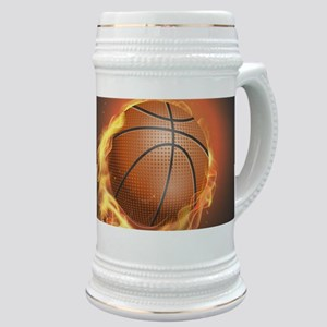 Flaming Basketball Stein