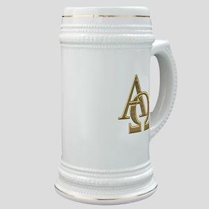 """""""3-D"""" Golden Alpha and Omega Symbol Stein"""
