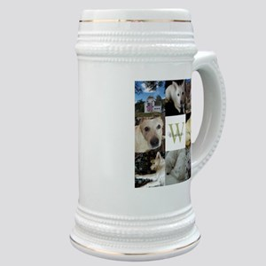 Photo Block with Monogram and Name Stein