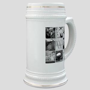 Elegant Photo Block and Monogram Stein
