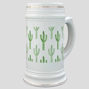 Cute Watercolor Cactus Pattern Stein