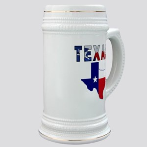 Flag Map With Texas Stein