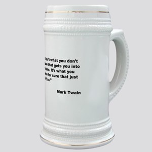 Mark Twain Quote on Trouble Stein
