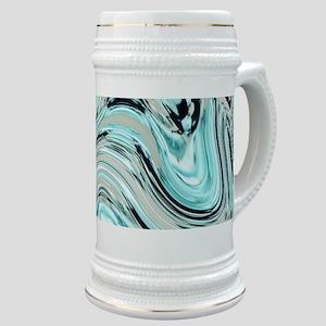 abstract turquoise swirls Stein