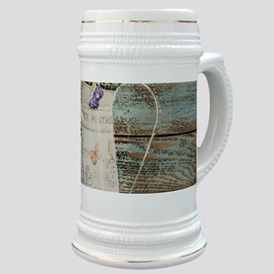 rustic lavender western country Stein